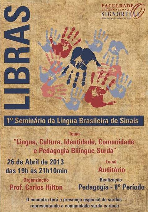 1o. Seminário da Lingua Brasileira de Sinais
